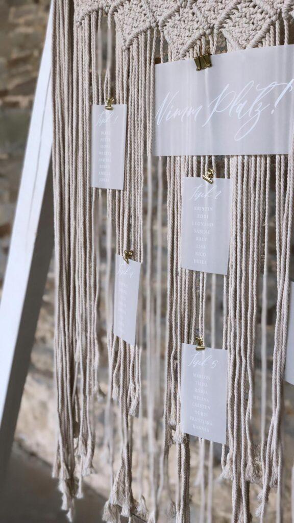 individuelle-Papeterie-transparent-papier-Tischplan